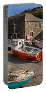 Fishing Boats At Mullion Cove Portable Battery Charger