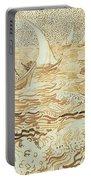 Fishing Boats At Saintes Maries De La Mer Portable Battery Charger by Vincent van Gogh