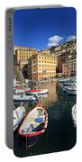 fishing boats in Camogli Portable Battery Charger