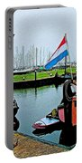 Fishing Boats In Enkhuizen-netherlands Portable Battery Charger