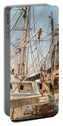 Fishing Boats In Harbour Portable Battery Charger