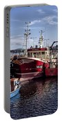 Fishing Boats In Killybegs Donegal Ireland Portable Battery Charger