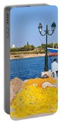 Fishing In Spetses Town Portable Battery Charger