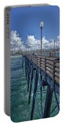 Fishing On Oceanside Pier Portable Battery Charger