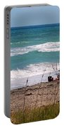 Fishing On The Beach Portable Battery Charger