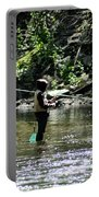 Fishing The Wissahickon Portable Battery Charger