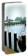 Fishing Village Marina In Zuiderzee Open Air Musuem In Enkhuizen-netherlands Portable Battery Charger