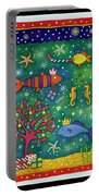 Fishy Christmas, 1997 Wc And Pastel On Paper Portable Battery Charger