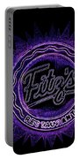 Fitz's In Purple Neon Portable Battery Charger