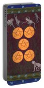 Five Of Pentacles Portable Battery Charger