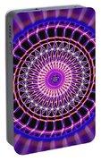 Five Star Gateway Kaleidoscope Portable Battery Charger by Derek Gedney