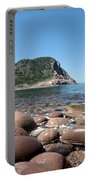 five steps to paradise - Giant pebbles is Menorca north shore close to Cala Pilar beach Portable Battery Charger