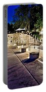 Five Well Square In Zadar Evening View Portable Battery Charger