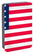 Flag Of The United States Of America Portable Battery Charger