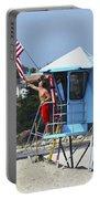 Flag Waving Lifeguard Portable Battery Charger