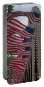 Flags At Rokefeller Plaza Portable Battery Charger