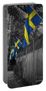 Flags Of Sweden Portable Battery Charger