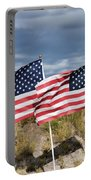 Flags On Antelope Island Portable Battery Charger