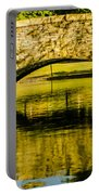 flagstone walking bridge at Freedom Park in Charlotte North Car Portable Battery Charger