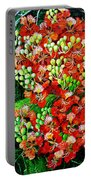 Flamboyant In Bloom Portable Battery Charger by Karin  Dawn Kelshall- Best