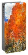 Flaming Aspens Portable Battery Charger