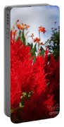 Flaming Feathered Flower Power Portable Battery Charger