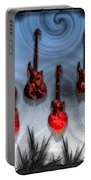 Flaming Guitars Portable Battery Charger