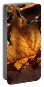 Flaming Leaves Portable Battery Charger