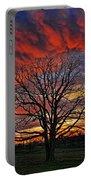 Flaming Oak Sunrise Portable Battery Charger