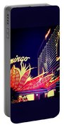 Flamingo At Night Portable Battery Charger
