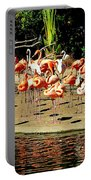 Flamingo Family Reunion Portable Battery Charger