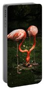 Flamingo Mirrored Portable Battery Charger