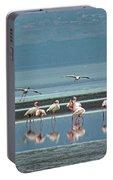 Flamingo On Lake Nakuru Portable Battery Charger
