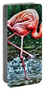 Flamingo Splash Two Portable Battery Charger