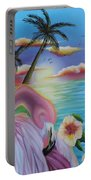 Flamingo Sunset Portable Battery Charger