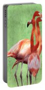 Flamingo Twist Portable Battery Charger by Jeff Kolker