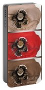 Flanders Poppy Triptych Portable Battery Charger