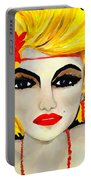 Flapper Girl  Portable Battery Charger