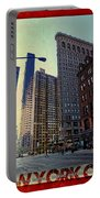 Flat Iron Building Poster Portable Battery Charger by Nishanth Gopinathan