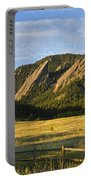 Flatirons From Chautauqua Park Portable Battery Charger