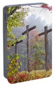 Flax Creek In The Fog Portable Battery Charger