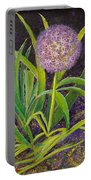 Fleur D Allium With Iris Leaves Backup Portable Battery Charger