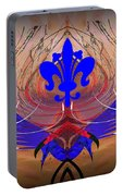 Fleur De Lis Portable Battery Charger