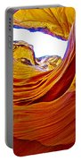 Flexibility Rock In Lower Antelope Canyon Near Page-arizona  Portable Battery Charger