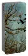 Flight Of The Forest Crows Portable Battery Charger