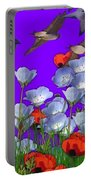 Flight Over Poppies Portable Battery Charger