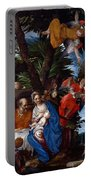 Flight To Egypt With Angels Portable Battery Charger
