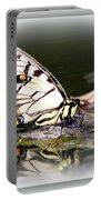 Floating In Water - Swallowtail -butterfly Portable Battery Charger