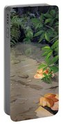 Floating Leaves By George Wood Portable Battery Charger