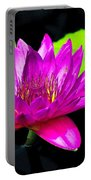 Floating Purple Water Lily Portable Battery Charger